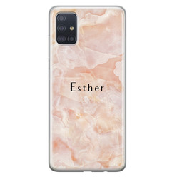 Samsung Galaxy A71 siliconen hoesje ontwerpen - Marble sunkissed