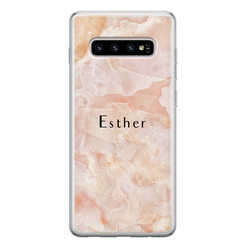 Samsung Galaxy S10 siliconen hoesje ontwerpen - Marble sunkissed