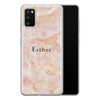 Samsung Galaxy A41 siliconen hoesje ontwerpen - Marble sunkissed