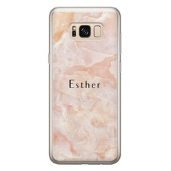 Samsung Galaxy S8 siliconen hoesje ontwerpen - Marble sunkissed