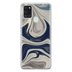 Leuke Telefoonhoesjes Samsung Galaxy A21s siliconen hoesje ontwerpen - Marmer sand