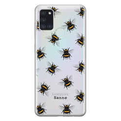 Leuke Telefoonhoesjes Samsung Galaxy A21s siliconen hoesje ontwerpen - Happy bees