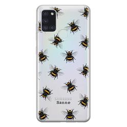 Samsung Galaxy A21s siliconen hoesje ontwerpen - Happy bees
