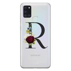 Samsung Galaxy A21s siliconen hoesje ontwerpen - Monogram