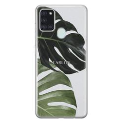 Leuke Telefoonhoesjes Samsung Galaxy A21s siliconen hoesje ontwerpen - Monstera