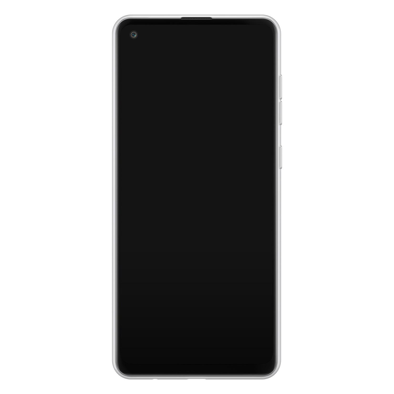 Leuke Telefoonhoesjes Samsung Galaxy A21s siliconen hoesje ontwerpen - Marmer roze grijs