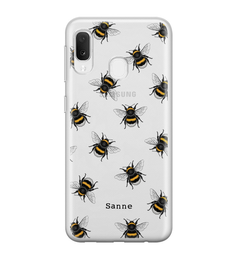 Samsung Galaxy A20e siliconen hoesje ontwerpen - Happy bees