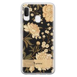 Leuke Telefoonhoesjes Samsung Galaxy A20e siliconen hoesje ontwerpen - Golden flowers