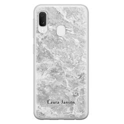 Leuke Telefoonhoesjes Samsung Galaxy A20e siliconen hoesje ontwerpen - Marmer grijs