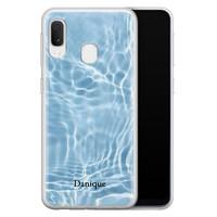 Samsung Galaxy A20e siliconen hoesje ontwerpen - Water blue