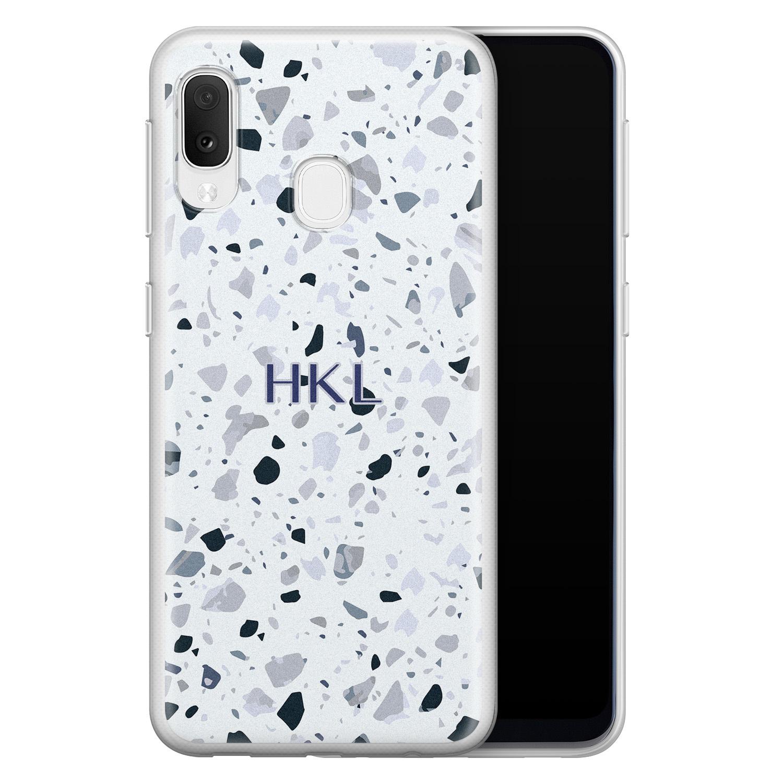 Samsung Galaxy A20e siliconen hoesje ontwerpen - Terrazzo