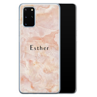 Samsung Galaxy S20 Plus siliconen hoesje ontwerpen - Marble sunkissed