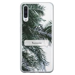 Leuke Telefoonhoesjes Samsung Galaxy A50/A30s siliconen hoesje ontwerpen - Palmbladeren