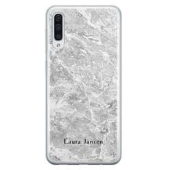 Samsung Galaxy A50/A30s siliconen hoesje ontwerpen - Marmer grijs