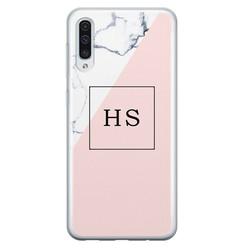 Leuke Telefoonhoesjes Samsung Galaxy A50/A30s siliconen hoesje ontwerpen - Marmer roze grijs