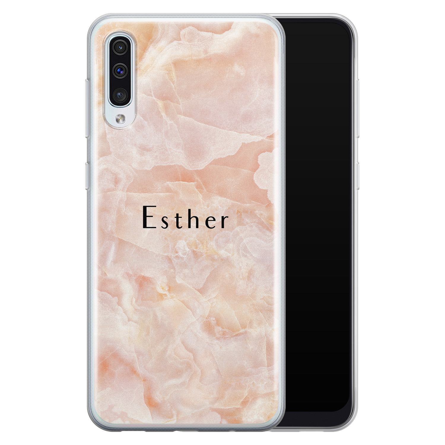 Samsung Galaxy A50/A30s siliconen hoesje ontwerpen - Marble sunkissed