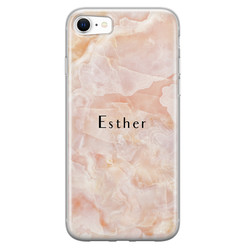 iPhone SE 2020 siliconen hoesje ontwerpen - Marble sunkissed