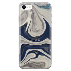 Leuke Telefoonhoesjes iPhone SE 2020 siliconen hoesje ontwerpen - Marmer sand
