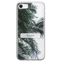 Leuke Telefoonhoesjes iPhone SE 2020 siliconen hoesje ontwerpen - Palmbladeren