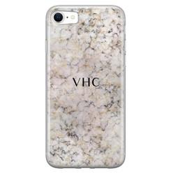 iPhone SE 2020 siliconen hoesje ontwerpen - Marmer veins