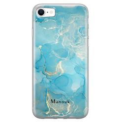 Leuke Telefoonhoesjes iPhone SE 2020 siliconen hoesje ontwerpen - Marmer liquid