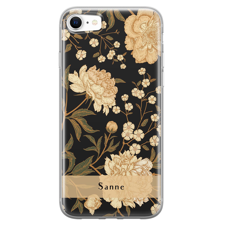 iPhone SE 2020 siliconen hoesje ontwerpen - Golden flowers