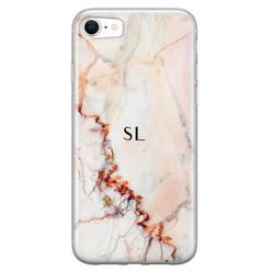 iPhone SE 2020 siliconen hoesje ontwerpen - Marmer luxe