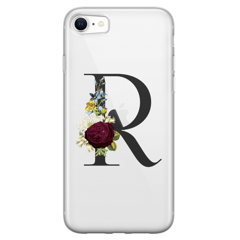 Leuke Telefoonhoesjes iPhone SE 2020 siliconen hoesje ontwerpen - Monogram