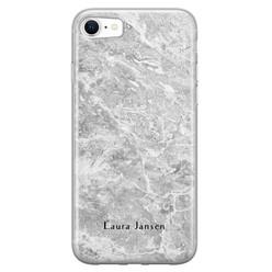 iPhone SE 2020 siliconen hoesje ontwerpen - Marmer grijs