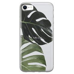 Leuke Telefoonhoesjes iPhone SE 2020 siliconen hoesje ontwerpen - Monstera