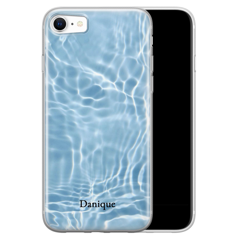 Leuke Telefoonhoesjes iPhone SE 2020 siliconen hoesje ontwerpen - Water blue