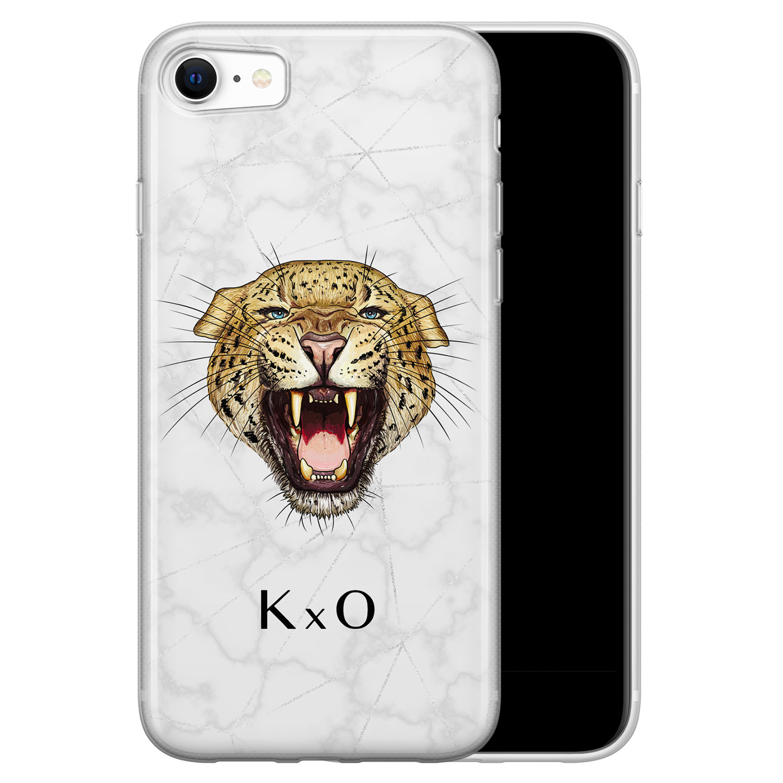 iPhone SE 2020 siliconen hoesje ontwerpen - Luipaard hoofd