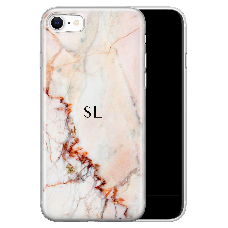 Leuke Telefoonhoesjes iPhone SE 2020 siliconen hoesje ontwerpen - Marmer luxe