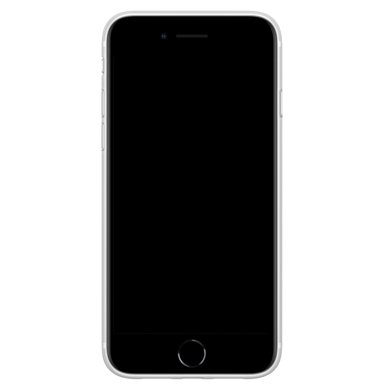 Leuke Telefoonhoesjes iPhone SE 2020 siliconen hoesje ontwerpen - Luipaard grijs