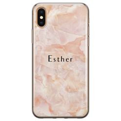 iPhone X/XS siliconen hoesje ontwerpen - Marble sunkissed