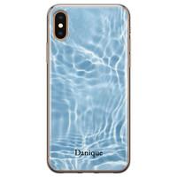 iPhone X/XS siliconen hoesje ontwerpen - Water blue