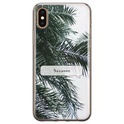 Leuke Telefoonhoesjes iPhone X/XS siliconen hoesje ontwerpen - Palmbladeren