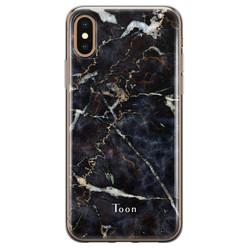 iPhone X/XS siliconen hoesje ontwerpen - Marmer mix