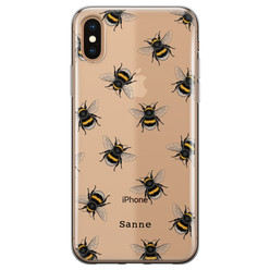 iPhone X/XS siliconen hoesje ontwerpen - Happy bees
