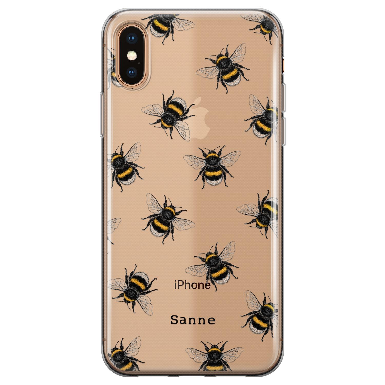 Leuke Telefoonhoesjes iPhone X/XS siliconen hoesje ontwerpen - Happy bees