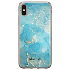 Leuke Telefoonhoesjes iPhone X/XS siliconen hoesje ontwerpen - Marmer liquid