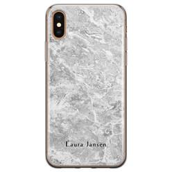 iPhone X/XS siliconen hoesje ontwerpen - Marmer grijs