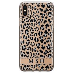 Leuke Telefoonhoesjes iPhone X/XS siliconen hoesje ontwerpen - Luipaard grijs