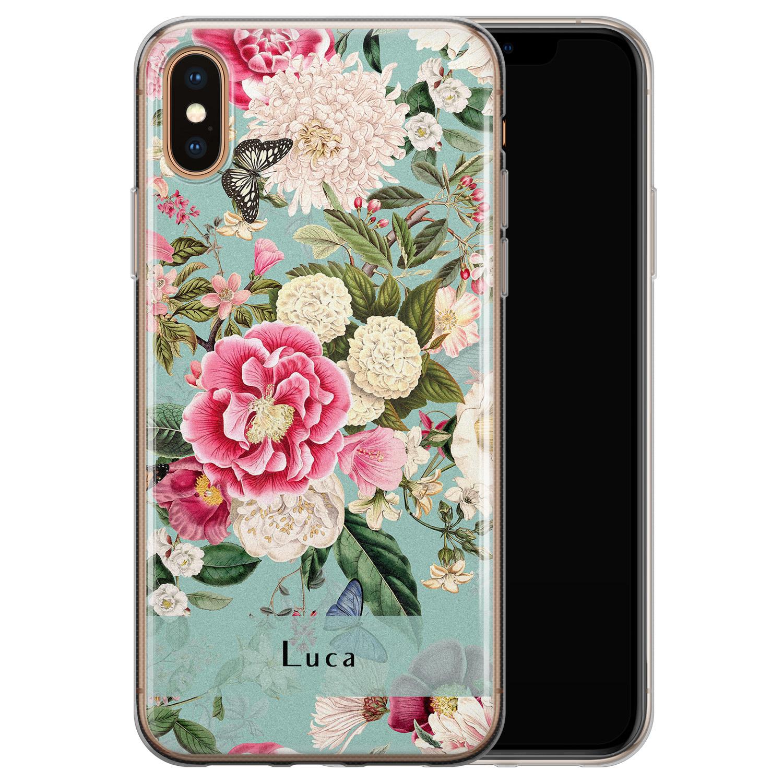 Leuke Telefoonhoesjes iPhone X/XS siliconen hoesje ontwerpen - Blooming