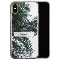 iPhone X/XS siliconen hoesje ontwerpen - Palmbladeren