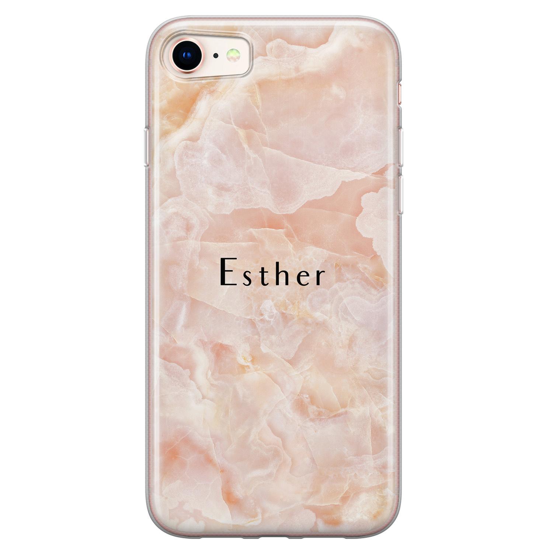 Leuke Telefoonhoesjes iPhone 8/7 siliconen hoesje ontwerpen - Marble sunkissed