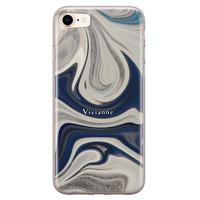 iPhone 8/7 siliconen hoesje ontwerpen - Marmer sand