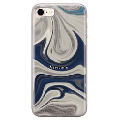 Leuke Telefoonhoesjes iPhone 8/7 siliconen hoesje ontwerpen - Marmer sand