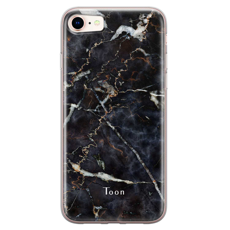 iPhone 8/7 siliconen hoesje ontwerpen - Marmer mix