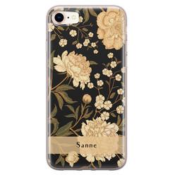 iPhone 8/7 siliconen hoesje ontwerpen - Golden flowers